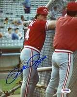 Pete Rose Psa Dna Coa Autograph Reds 8x10 Photo  Hand Signed Authentic 6