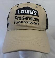 Lowes Proservices baseball cap  hat adjustable v