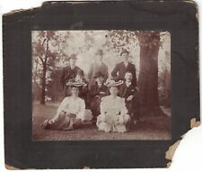 Vintage Cabinet Photo of Six Men and Two Women Wearing Victorian Garb Late 1800s