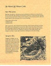 Book of Shadows Spell Pages ** How to Ward off Colds ** Wicca Witchcraft BOS