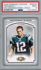 TOM BRADY 2006 Donruss Threads Pro Gridiron Kings Gold #PGK55 PSA 9 Pop 3 No 10s