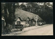 Hants Hampshire NEW FOREST Cat & Fiddle c1920s? early car & motor bike RP PPC