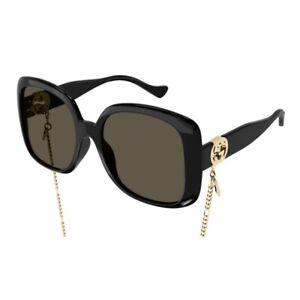 Occhiali da Sole Gucci GG1029SA 005 57-19-145 Donna black lenti brown