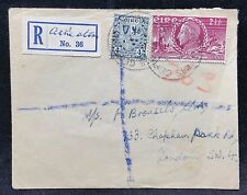 Ireland 1949 4p & 2 1/2p on Registered Cover to Clapham Park Rd, London