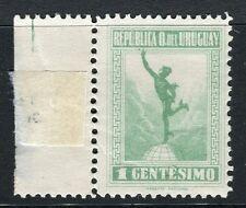 URUGUAY;  1921 early Mercury issue Mint hinged 1c. value