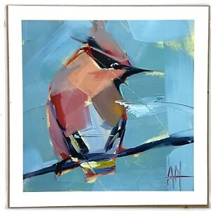 "Hummingbird Print Angela Moulton Hummingbird Print 7""x7"""