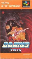 Darius Twin SNES Taito Nintendo Super Famicom Box Japan USED F/S