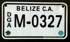 Belize Motorcycle License Plate Central America