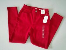 SO AUTHENTIC AMER. HERITAGE by Kohl's Women's High Rise Jegging Jeans Red~Size 5