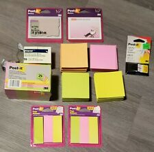 New Mixed Lot Of Post It Self Stick Removable Notes Pads Multi Colored 3m