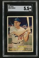 Gil Hodges Brooklyn Dodgers (d.72) 1957 Topps #10 Graded Card SGC 5.5
