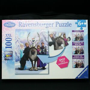 Ravensburger Disney Frozen 100 pc. XXL Puzzle - Spot the Difference - NEW