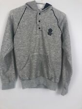 vtg 80s Epcot Center Disney World 1982 Hooded Pullover Sweatshirt Gray Small S