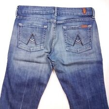 """Women's 7 For All Mankind """"A"""" Pocket Boot Cut Jeans Size 28x28 PBR10"""