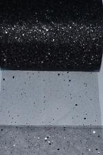 "Tulle Glitter Sparkle Width 6"" / 15cm Net Mesh Fabric Material Tutu Crafts UK"
