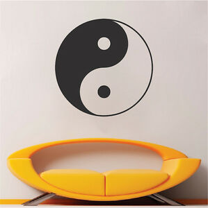 Yin Yang Decal Sticker, Asian Wall Vinyl, Removable Traditional Wall Art, a44