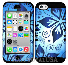 For Apple iPhone 5c KoolKase Hybrid Silicone Cover Case - Hawaiian FLOWER 82