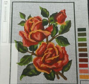 2 Roses & Bud - NEW TAPESTRY to Stitch - Collection D'Art