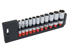 "NEILSEN 3/8"" DRIVE SOCKET SET 11 PIECE DEEP ON RAIL IMPERIAL SAE AF"