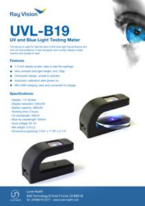 Anti-UV & Anti-Blue Light Transmittance Testing Meter UV Lens Tester UVL-B19