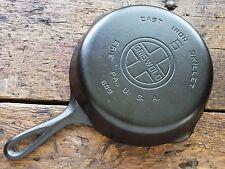 Vintage GRISWOLD Cast Iron SKILLET Frying Pan RESTORED # 6 LARGE BLOCK LOGO