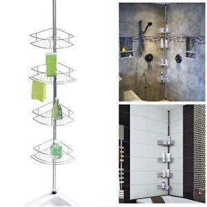 Non Rust Bathroom Shelf Corner Telescopic Shelf Storage Shower Caddy Tidy Metal