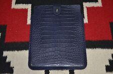 Ralph Lauren Purple Label Made in Italy Alligator Crocodile Ipad Case Cover
