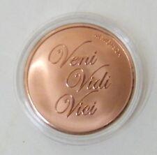 Mi Moneda Coin La Dolce Vita Veni Vidi Vici Rose Gold Collect 1 3/8in Blister