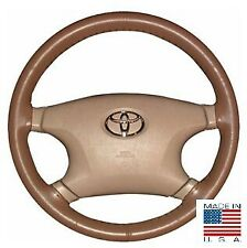 Oak AXX Leather Steering Wheel Cover Stitch On For Chevy Chrysler & Other Makes