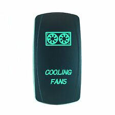 Laser COOLING FAN Rocker Switch ON-OFF led Light 20A 12V 5pin GREEN