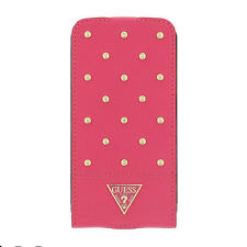 étui Rabattable Guess Tessi protection portable rose Samsung S5 Galaxy