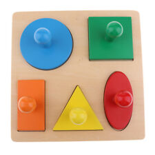 Montessori Geometric Puzzle Toy Kid Baby Shape Sorting Color Recognition Toy