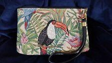 Windsor & York  Palm Beach - Toucan Bird Tapestry Clutch Handbag Perfect
