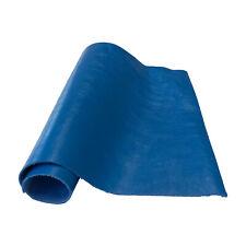 """Pre-Cut Blue Cowhide Leather Project Piece 8"""" x 11"""" 3oz 1.2mm"""