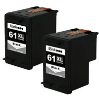 2 Black HP 61XL 61 XL CH563WN High Yield Ink For OfficeJet 2620 4630 4632 & More