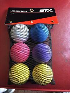 STX 6 PACK LACROSSE BALLS BNIOP