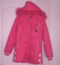 New Girls Hooded Pink Jacket Size 16