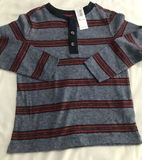 Old Navy Toddler Boy Long Sleeve Striped Henley 3T Nwt