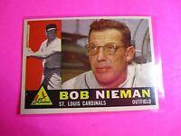 1960 TOPPS baseball Set Break #149 Bob Nieman Cardinals, NmMt High Grade