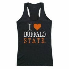 Buffalo State College Bengals Womens Love Tank Top Tee T-Shirt Black