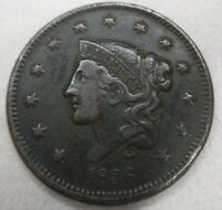 1836 Coronet Head Large Cent Very Fine VF almost Extremely Fine XF Original