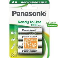 4 X Batería Recargable AA Panasonic 1900 mAh listo para usar HR06 LR6 NiMH MN1500