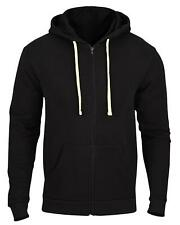 Mens Zip Up Hoody Plain Hoodie Fleece Zipper Sports Jumper Hooded Coat Warm