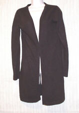 EVELYN GRACE 100% CASHMERE BROWN WOMEN'S  LONG CARDIGAN SWEATER SIZE:M(FIT S)