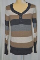 ST. JOHN'S BAY Women's Long Sleeve Pullover Striped Sweater - Size Small