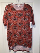NWT LuLaRoe XXS Irma Orange Tunic Top Blouse Shirt 2XS