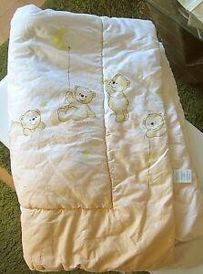 ✿ alvi sommer bettdecke spieldecke babydecke mit bären 1,30x80 top