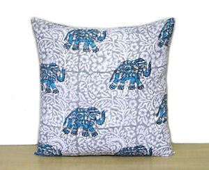 New Cushion Cover 100% Block Printed Pillow Covers Animal Printed Cushion Covers