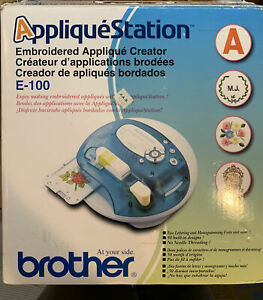 NIB Brother Applique Station E100 Computerized Embroidery 50 Designs Patchmaker