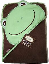 """Extra Large 40""""x30"""" Absorbent Hooded Towel, Frog, Frenchie Mini Couture"""